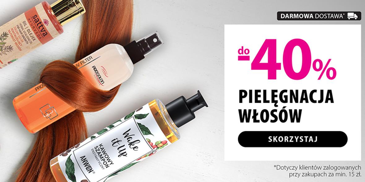 hebe:  Do -40% na pielęgnację włosów 06.05.2021