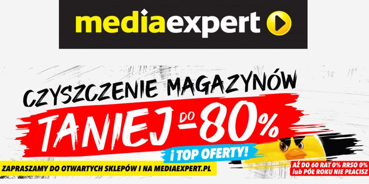 Media Expert:  Do -80% Czyszczenie magazynów 06.04.2021