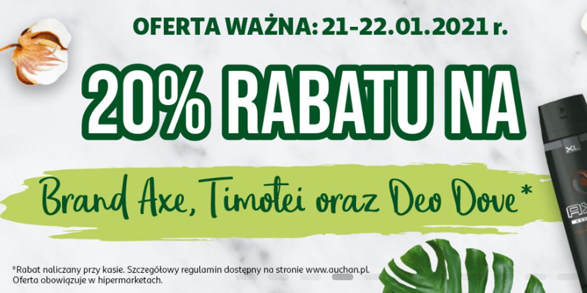 Auchan: -20% na wybrane produkty 21.01.2021