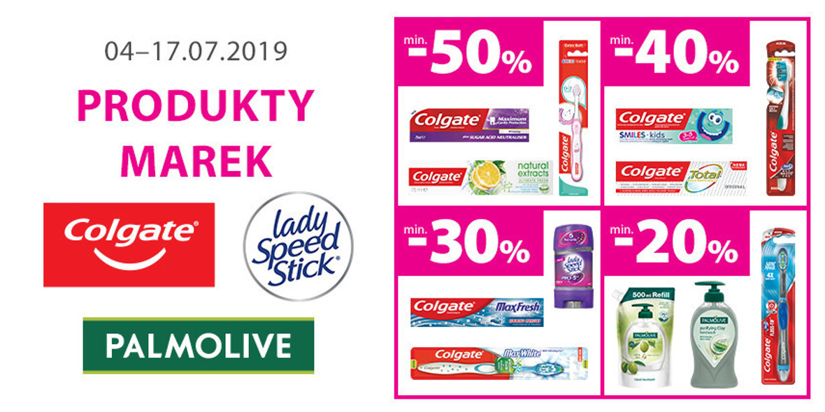na produkty Colgate, lady Speed Stick, Palmolive