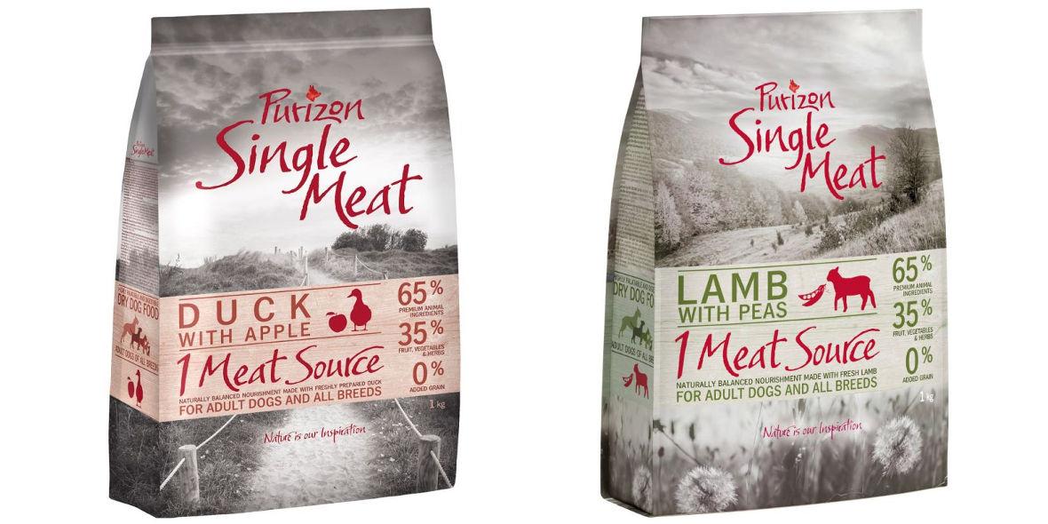 kilogram karmy dla psów Purizon Single Meat
