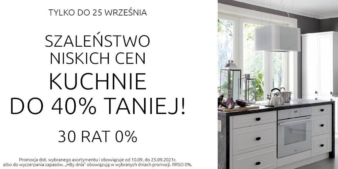 Black Red White:  Do -40% na kuchnie 13.09.2021