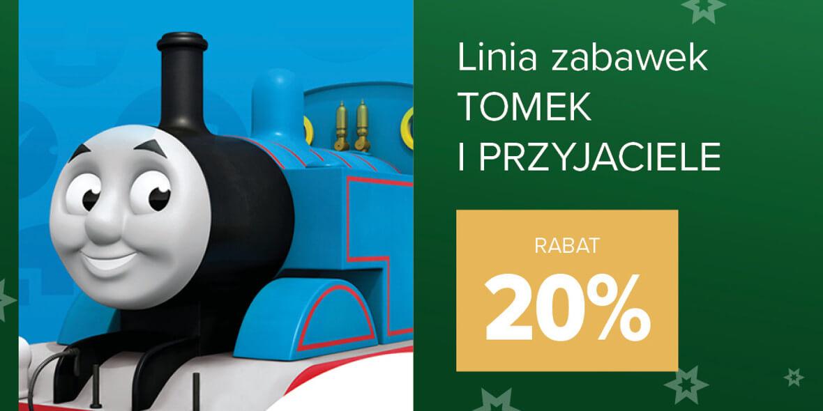 Carrefour: -20% linię zabawek Tomek i Przyjaciele 01.12.2020