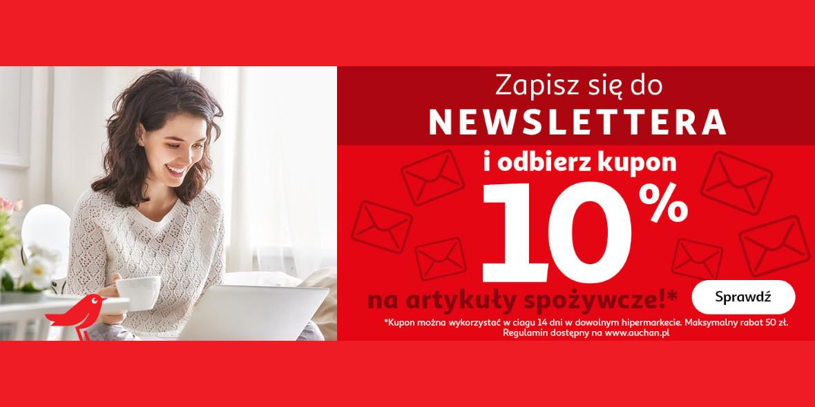 Auchan: Kupon -10% na artykuły spożywcze 01.01.0001