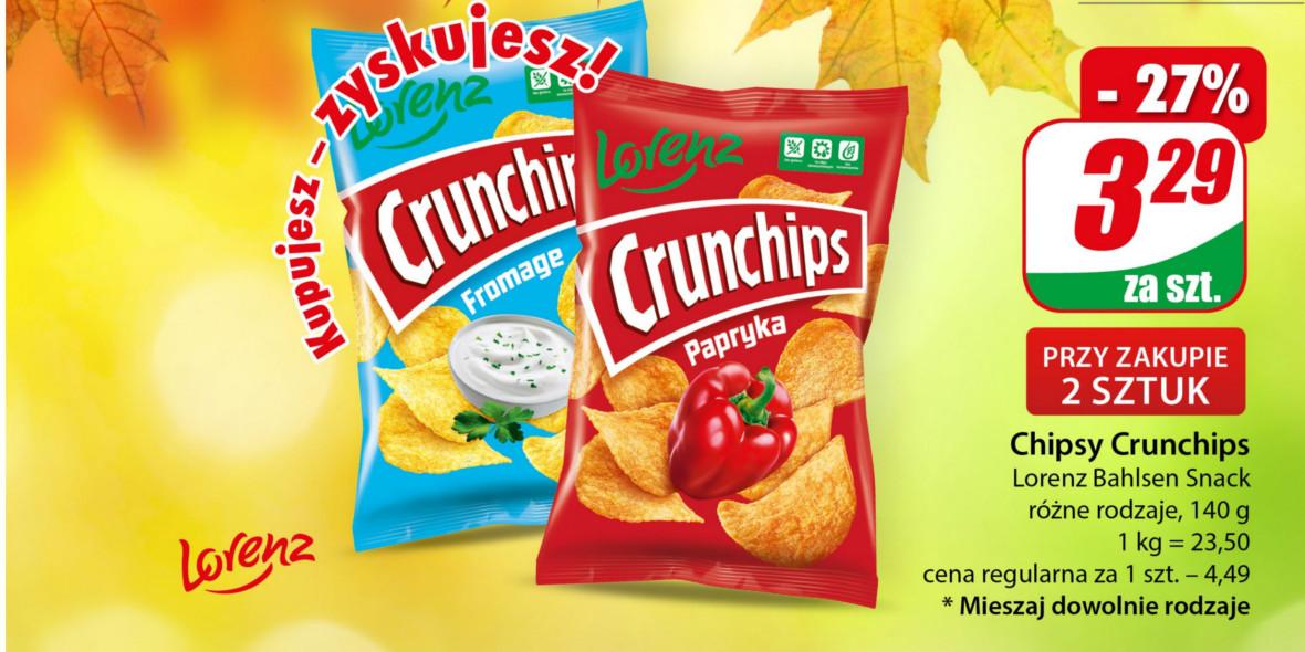 Dino: -27% na chipsy Crunchips 20.10.2021