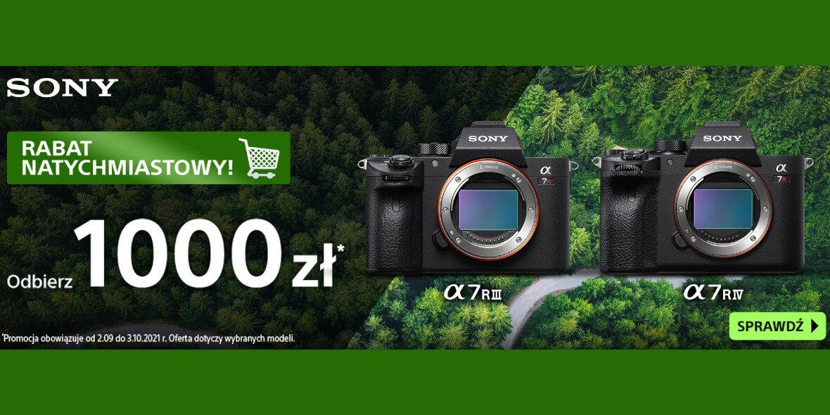 FotoForma: -1000 zł na aparaty Sony 02.09.2021