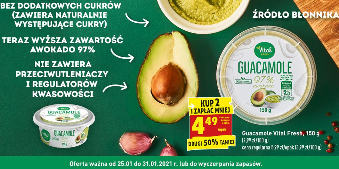 Biedronka:  -50% na drugie opakowanie Guacamole 25.01.2021