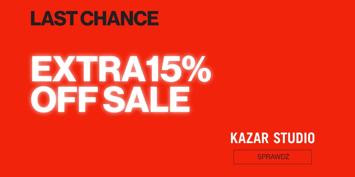 Kazar Studio: Kod: -15% na produkty z wyprzedaży