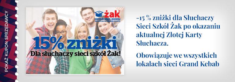 -15% dla słuchaczy sieci szkół Żak