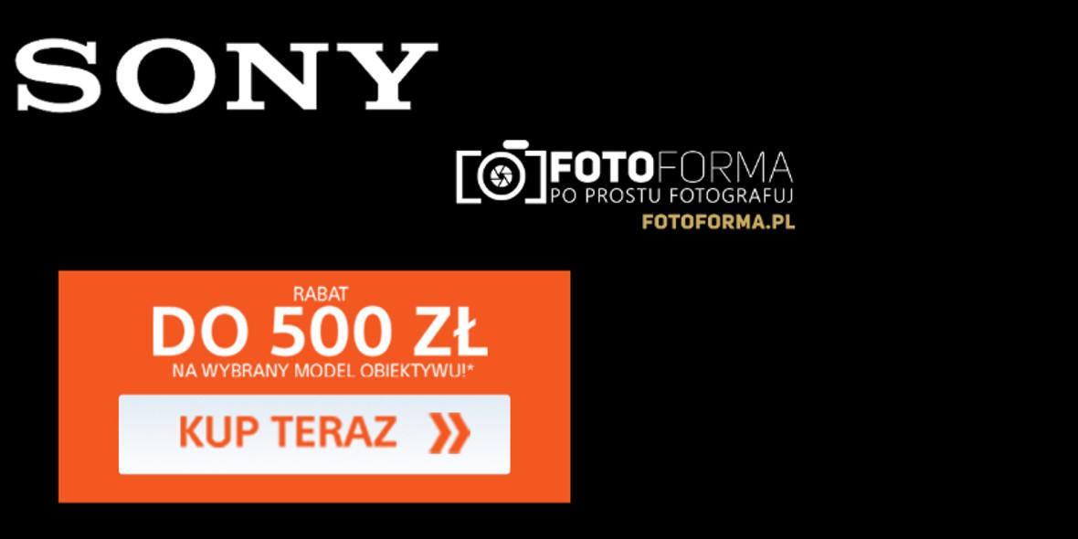 FotoForma: Do -500 zł na obiektywy Sony 01.01.0001