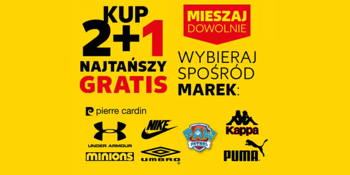 Kaufland: 2 + 1 na wybrane marki 20.10.2021