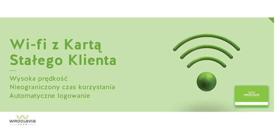 Wi-fi z Kartą Stałego Klienta Wroclavii
