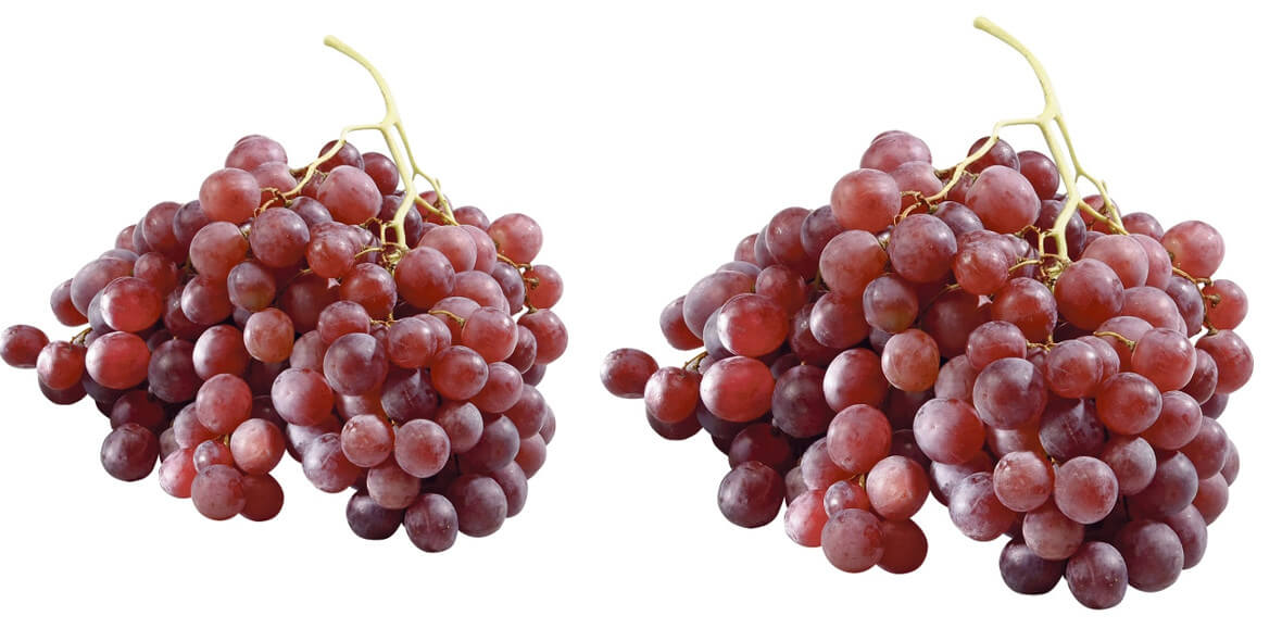 na winogrono czerwone bezpestkowe