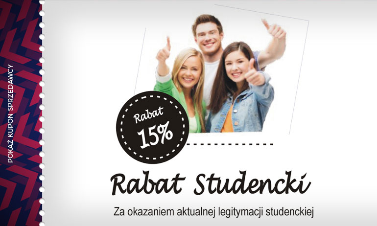 -15% dla studenta