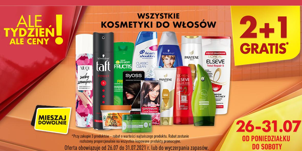 Biedronka:  2 + 1 na wszystkie kosmetyki do włosów 26.07.2021