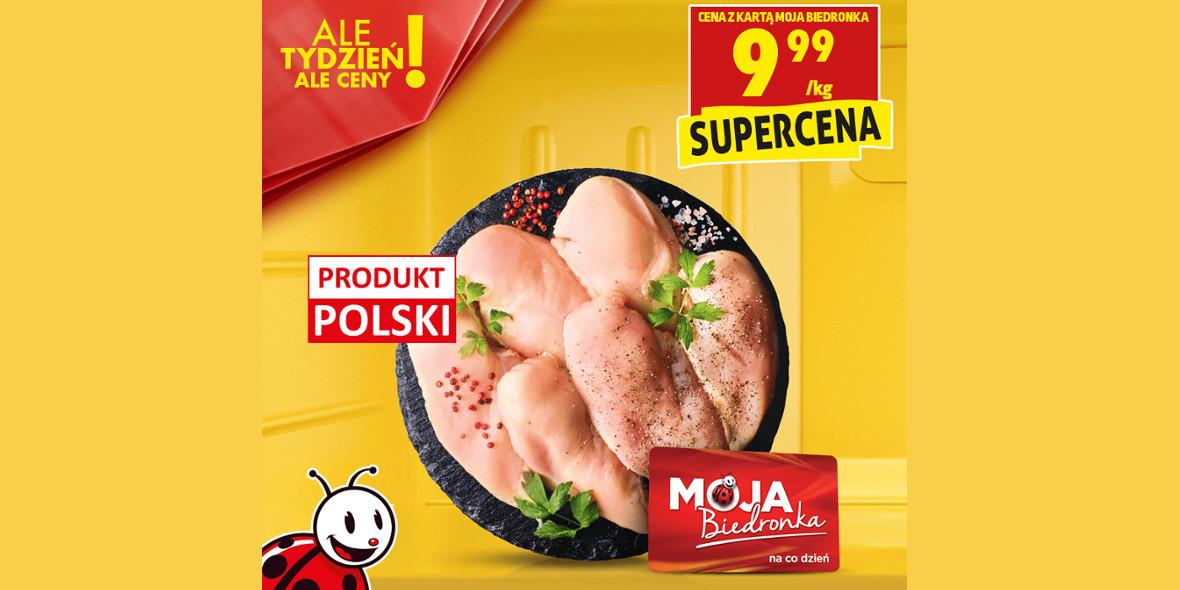 Biedronka:  9,99 zł za świeży filet z piersi kurczaka 23.04.2021