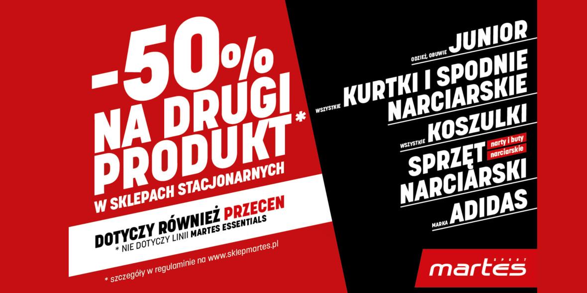 Martes Sport:  -50% na drugi produkt w Martes Sport 21.01.2021