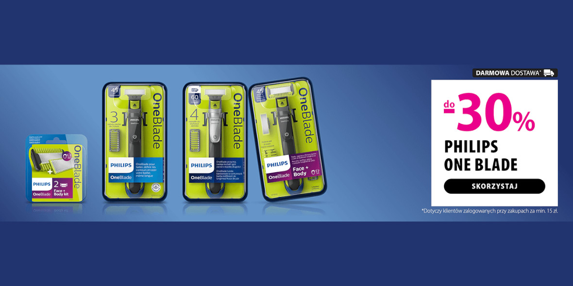 hebe: Do -30% na produkty Philips One Blade 14.06.2021