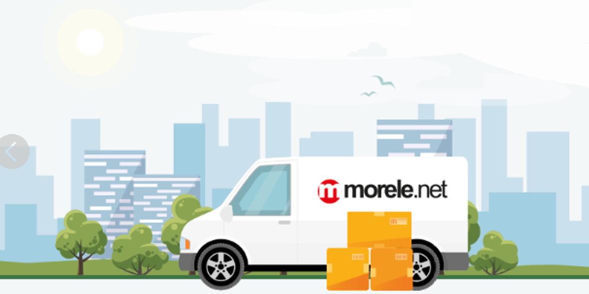 morele.net: Darmowa dostawa dla zamówień od 199 zł 22.09.2020