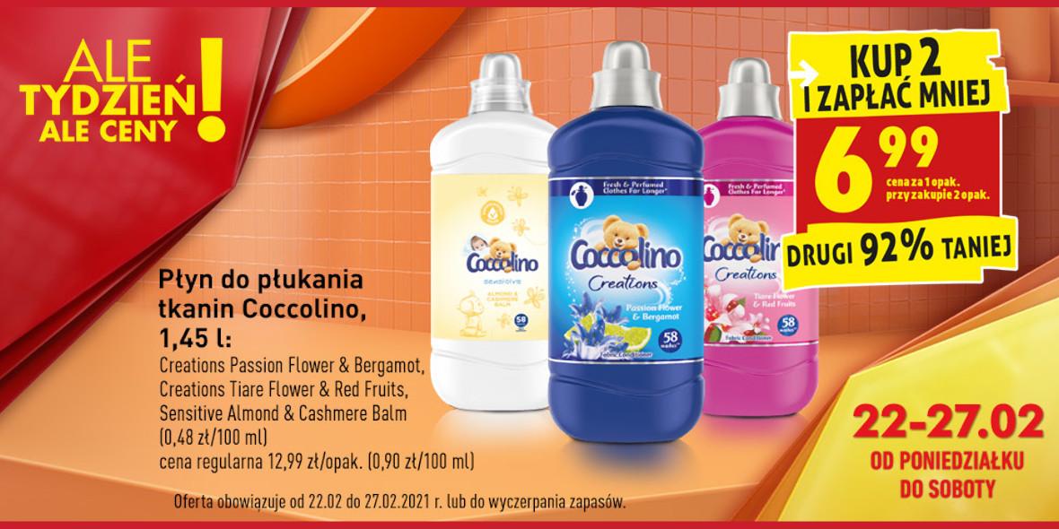Biedronka: -92% na drugi płyn Coccolino 22.02.2021