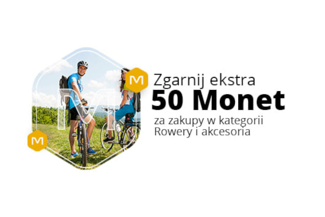 Allegro.pl: +50 Monet przy zakupach w kategorii Rowery i akcesoria