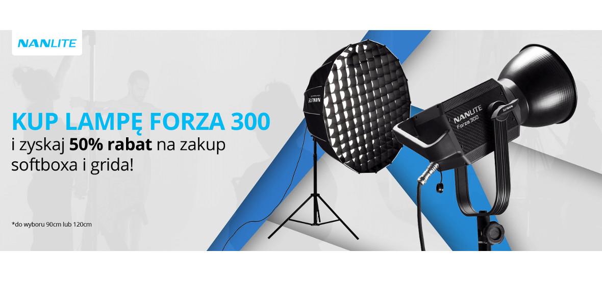 na zakup softboxa i grida przy zakupie Forza 300