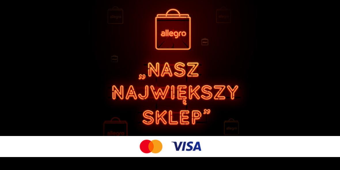 Allegro.pl:  Nawet +20 Monet za płatność zapisaną kartą 29.04.2021