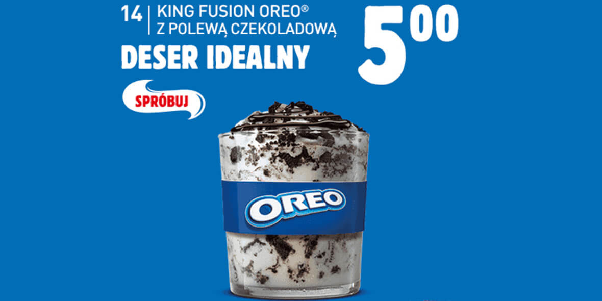 za King Fusion Oreo z polewą czekoladową