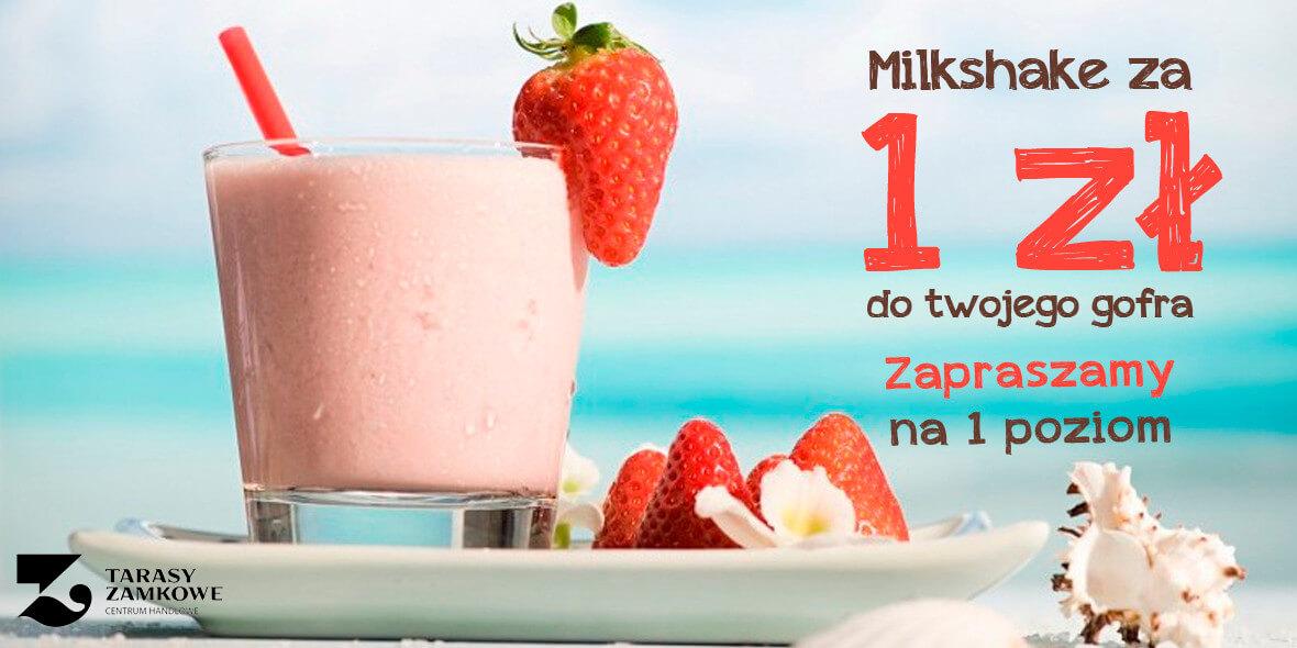 za Milkshake przy zakupie dowolnego gofra