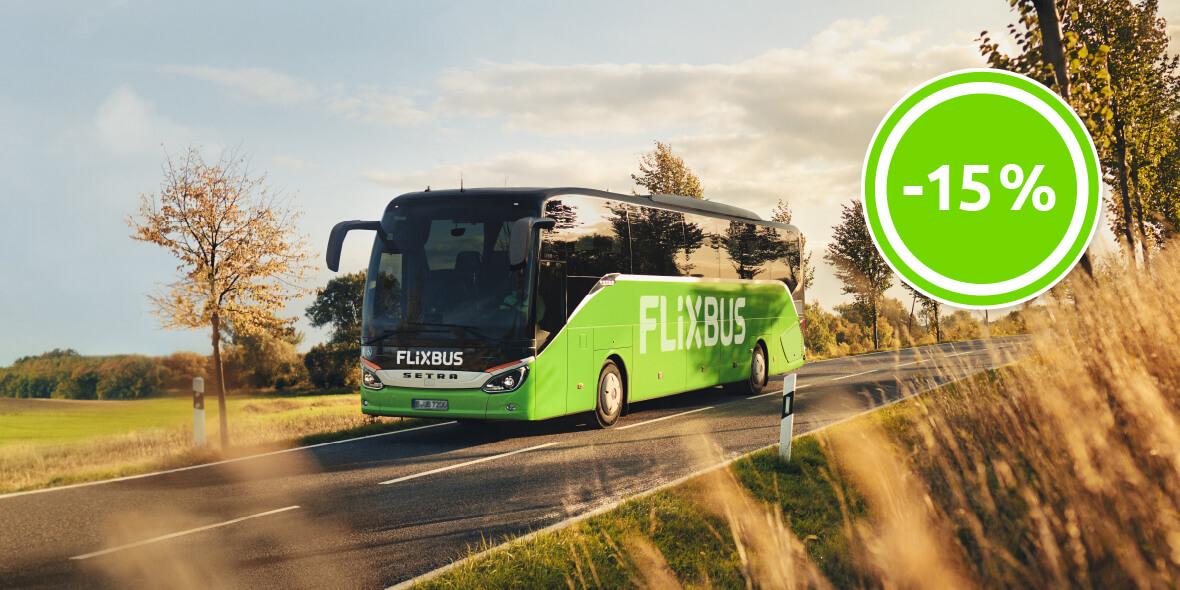 Flixbus.pl:  Skorzystaj z 15% zniżki na przejazdy! 22.06.2021