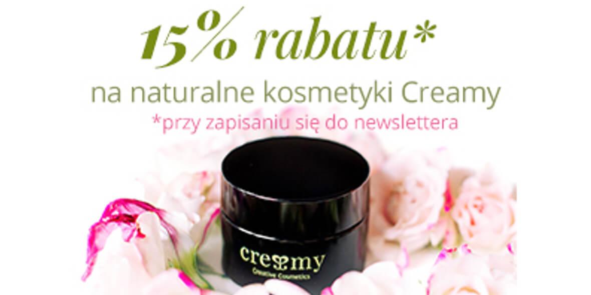 na naturalne kosmetyki z newsletterem