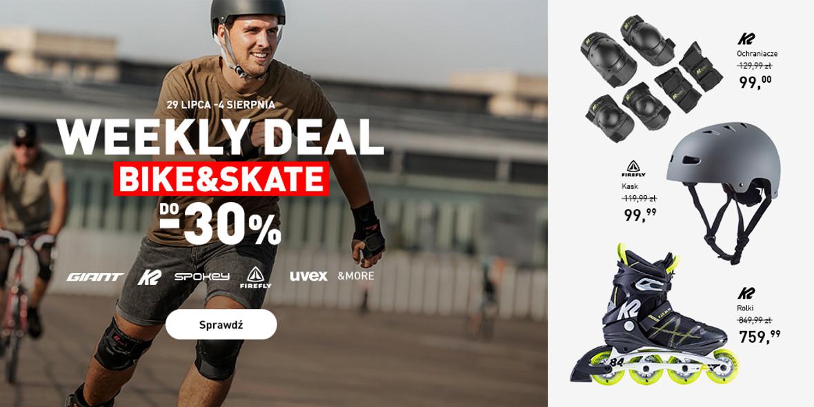 Intersport: Do -30% na Bike&Skate 29.07.2021
