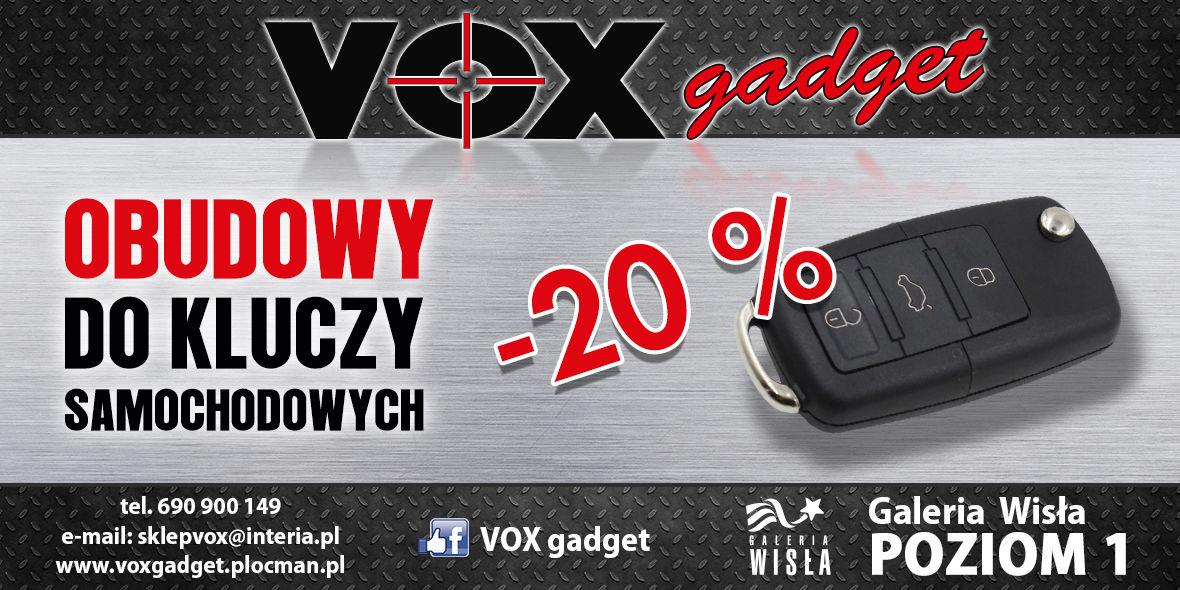 VOX Gadget: -20% na obudowy do kluczy samochodowych 01.01.0001