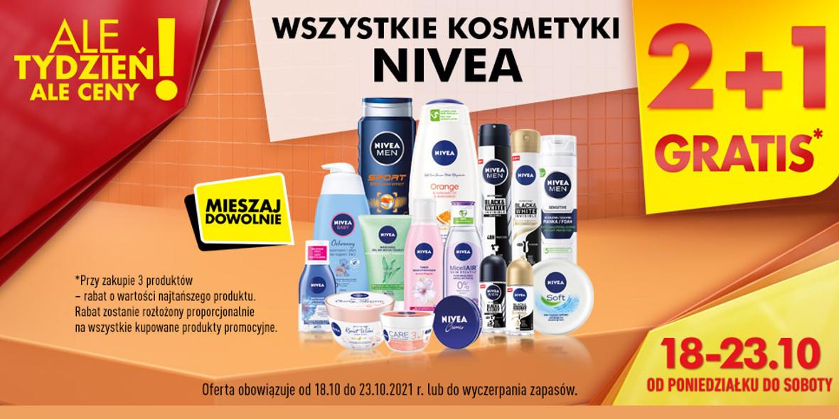 Biedronka:  2 + 1 na wszystkie kosmetyki Nivea 18.10.2021