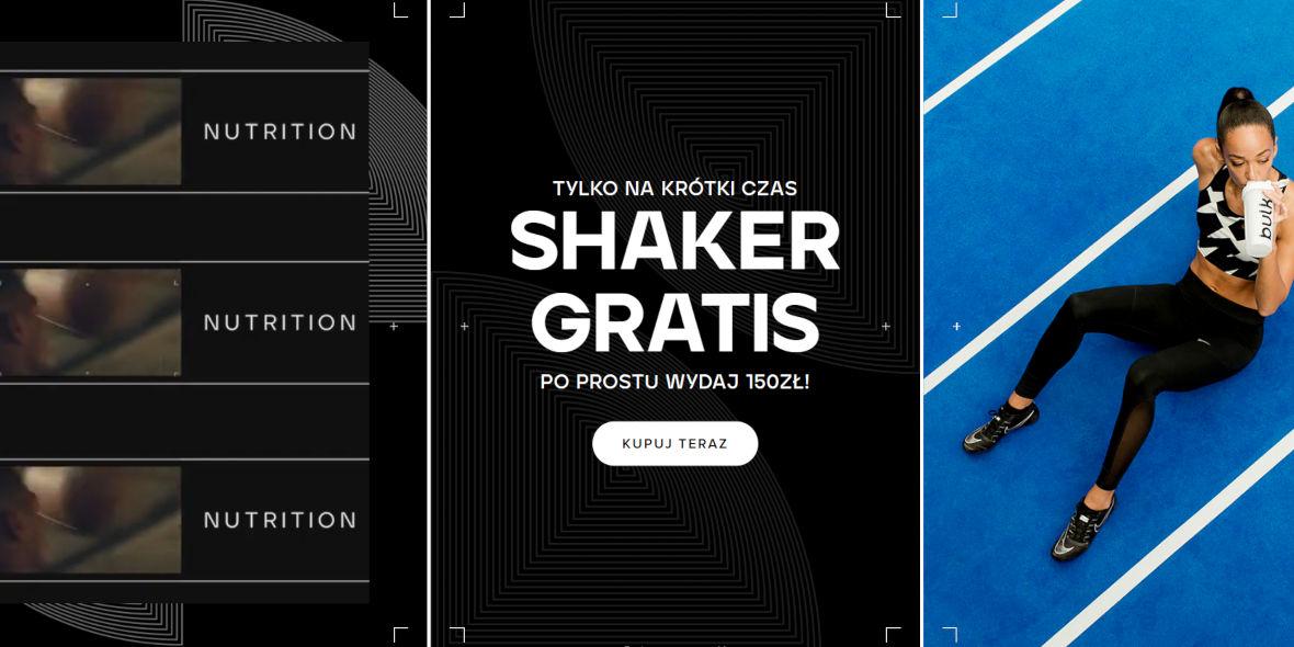 Bulk Powders: Gratis shaker przy zamówieniu za 150 zł