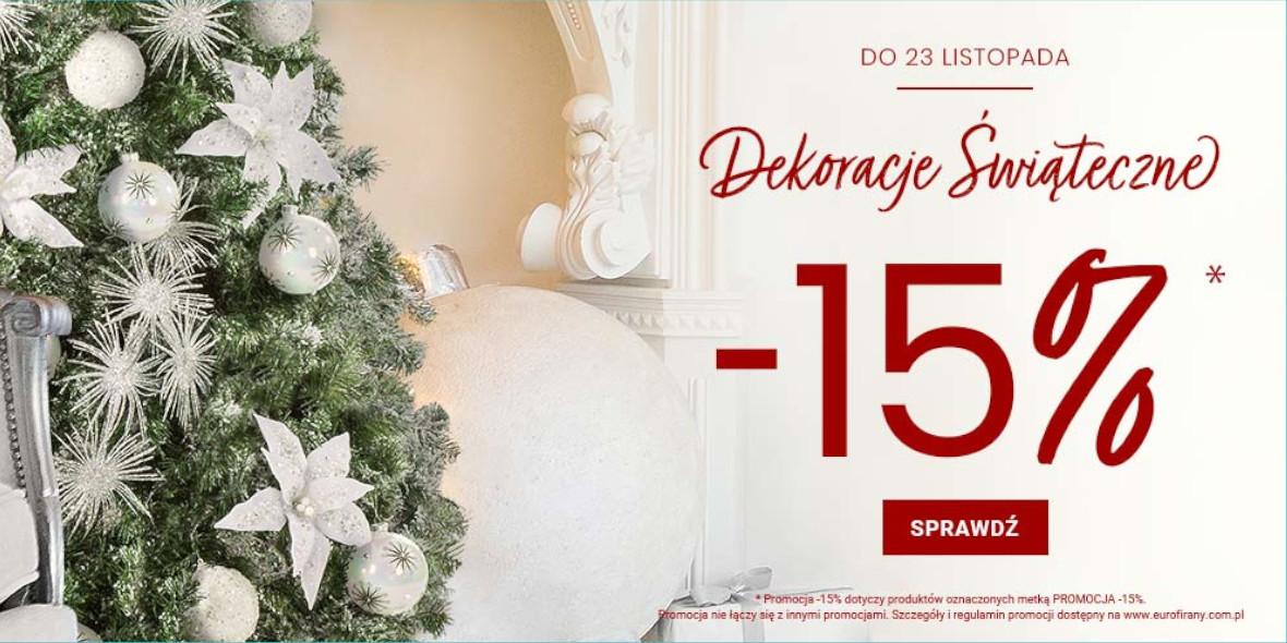 Eurofirany: -15% na kolekcję świąteczną
