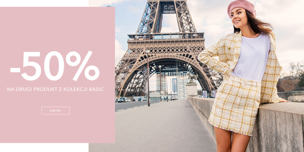Butik I like!:  -50% na drugi produkt z kolekcji Basic 04.03.2021