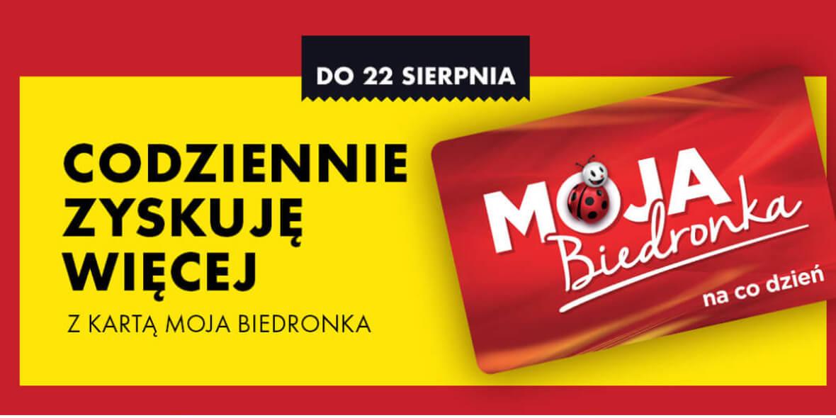 Biedronka: Do -15 zł na voucher z kartą Moja Biedronka 01.08.2021