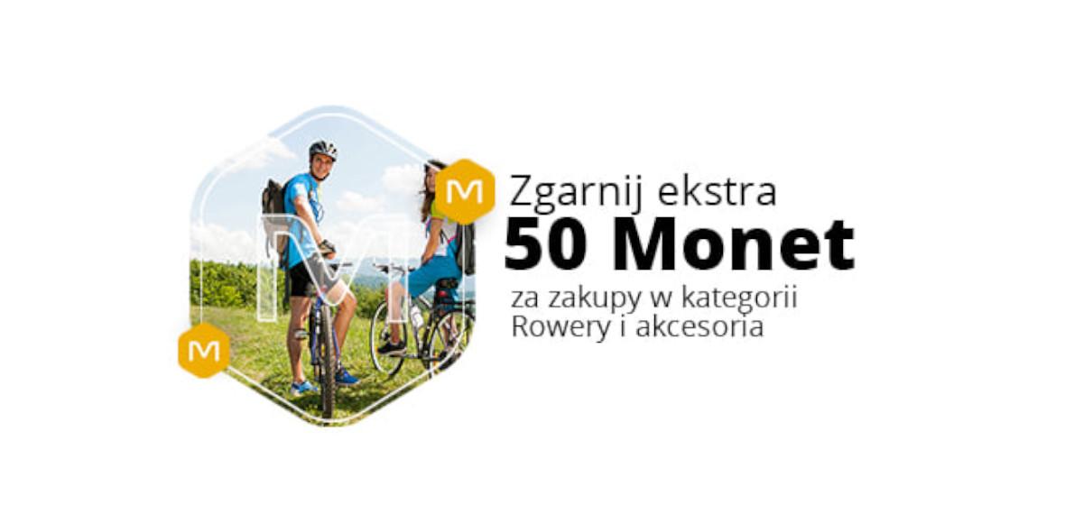 Allegro.pl: +50 Monet przy zakupach w kategorii Rowery i akcesoria 10.05.2021