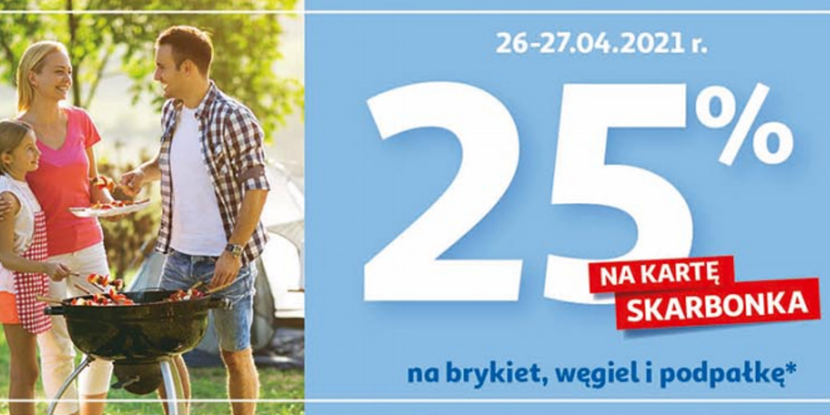 Auchan: 25% zwrotu na kartę Skarbonka na brykiet, węgiel i podpałkę 26.04.2021