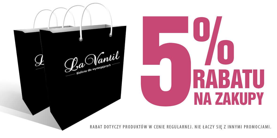 La Vantil: -5% na zakupy 19.09.2018