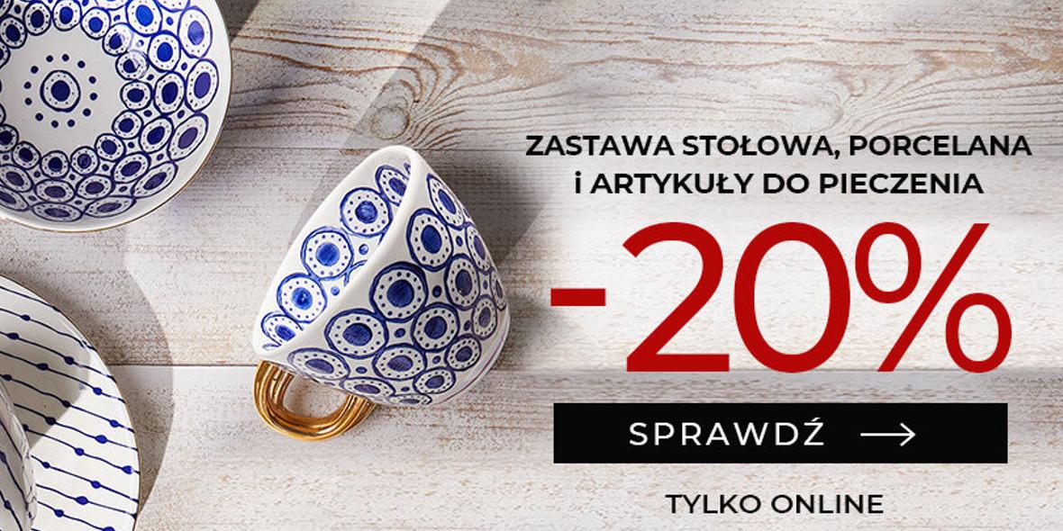 Duka: -20% na zastawę stołową, porcelanę, art. do pieczenia 13.10.2021