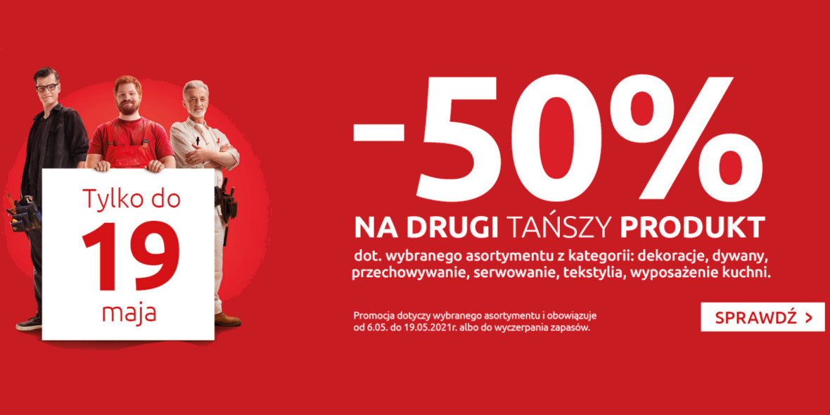 Black Red White:  -50% na drugi tańszy produkt 06.05.2021