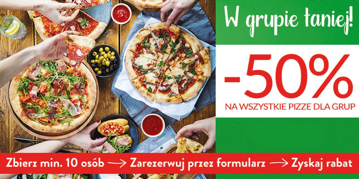 na wszystkie pizze dla grup