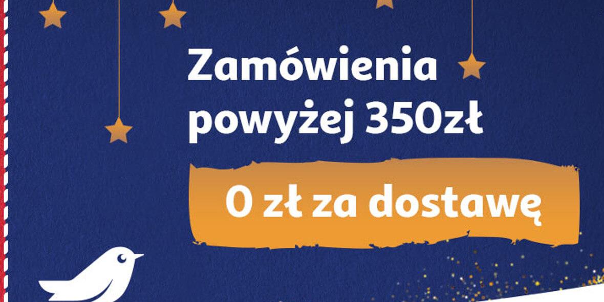 za dostawę za zamówienia powyżej 350 zł