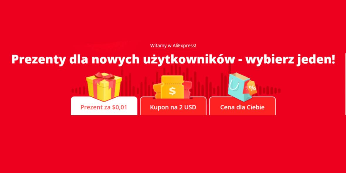 AliExpress: Kod: -2$ lub prezenty dla nowych użytkowników 27.01.2021