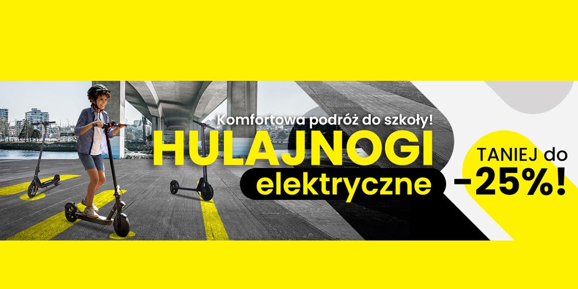 Media Expert:  Do -25% na hulajnogi elektryczne 01.01.0001