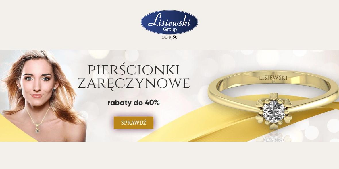 Biżuteria Lisiewski: Do -40% na pierścionki zaręczynowe 26.03.2021