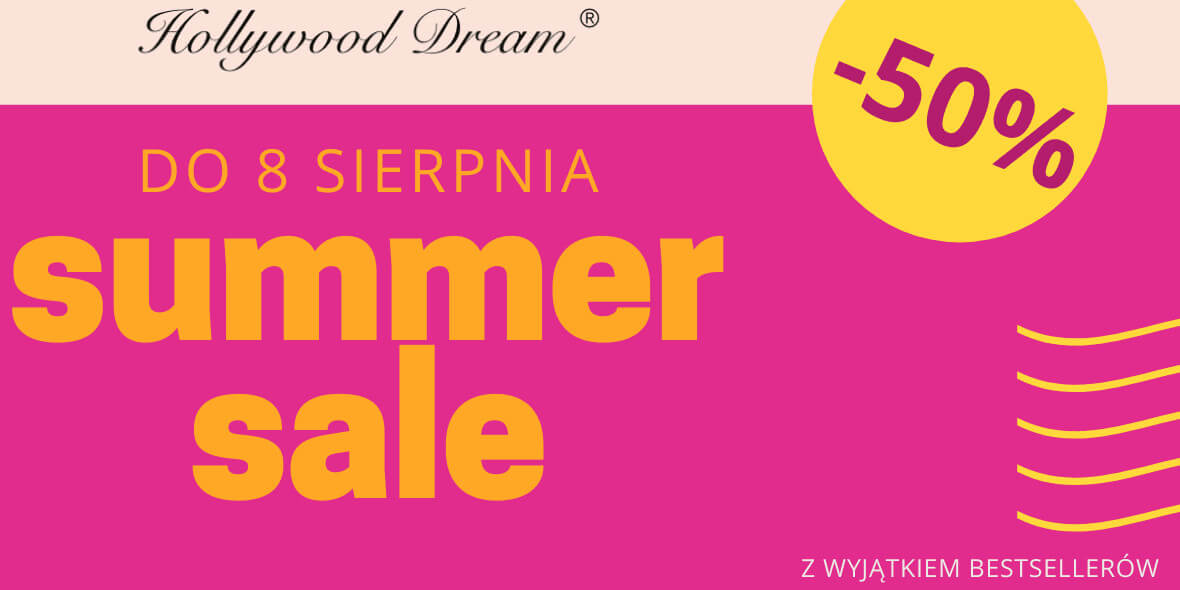 HollywoodDream.pl: -50% na Summer Sale 01.08.2021