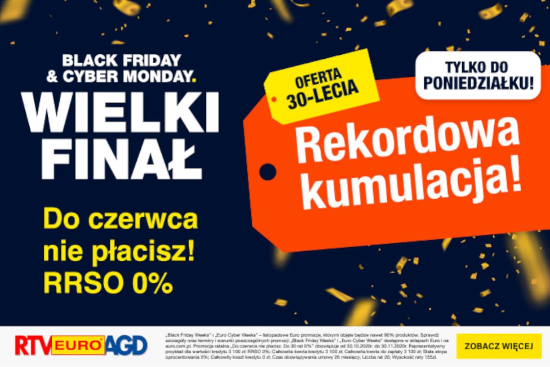 RTV EURO AGD: Rekordowa 90% produktów taniej na Black Friday Week 01.01.0001
